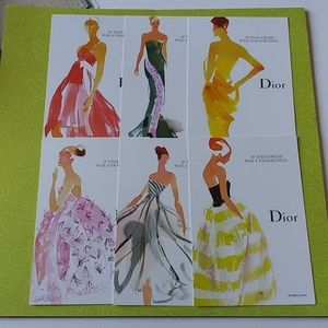 Rare Dior Illustrated Cards